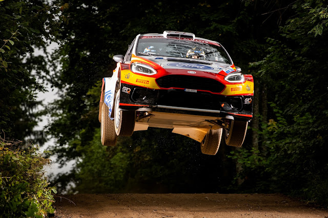 Rally Racing driver Jan Solans flying high at Rally Finland
