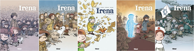 Couvertures 5 tomes Irena