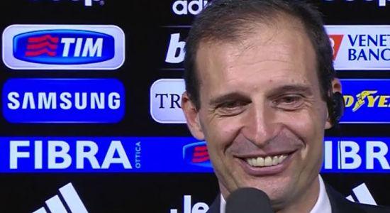 """JUVENTUS, Allegri: """"Brutto primo tempo, ma abbiamo saputo reagire bene. I rigori? Dal campo sembrano netti""""."""
