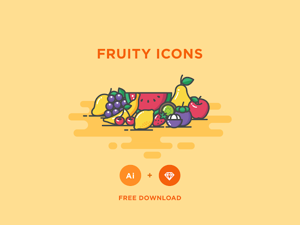 Download Vector Fruity Icons Set Free