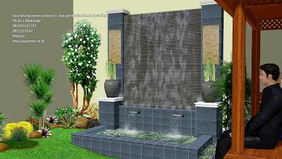 Water wall dan kolam koi