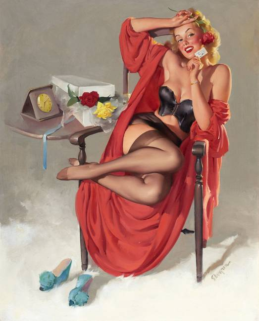 Vintage Paintings of Beautiful Woman's 22