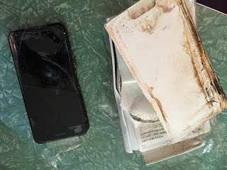 Apple iPhone 7 exploded