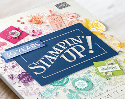This image shows the brand new Stampin' Up! Annual Catalogue 2018.