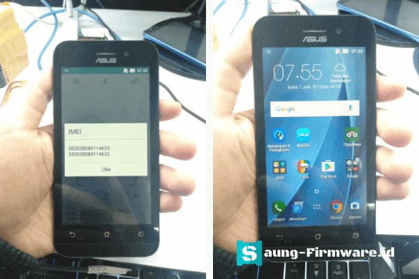 Mengatasi Imei Null Asus Zenfone Go ZB450KL X009DA Tested | Fastboot Mode