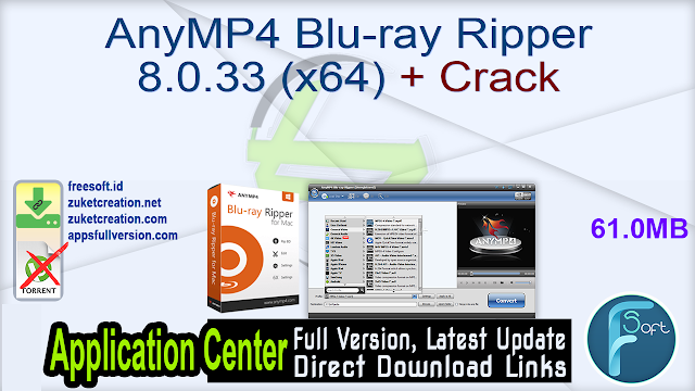 AnyMP4 Blu-ray Ripper 8.0.33 (x64) + Crack