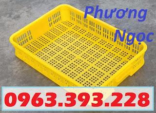 Sóng nhựa hở HS010, sọt nhựa cao 10 đựng nông sản, thùng nhựa rỗng HS010 SR1