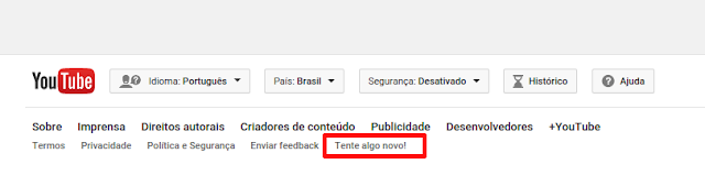 Usando o novo Player no YouTube