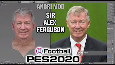PES 2020 Faces Sir Alex Ferguson by Andri Mod
