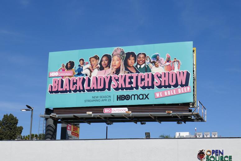 A Black Lady Sketch Show season 2 billboard
