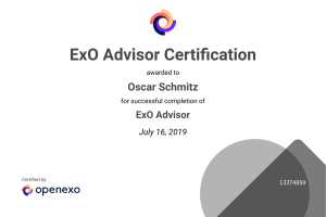 #OpenEXO Certification