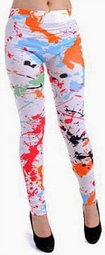 Anna Kaci Paint Splatter Leggings for 80s dress-up