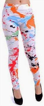 Anna Kaci Paint Splatter Leggings for 80s dress-up