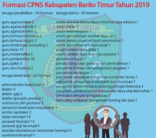 Rincian Formasi CPNS 2019 Barito Timur