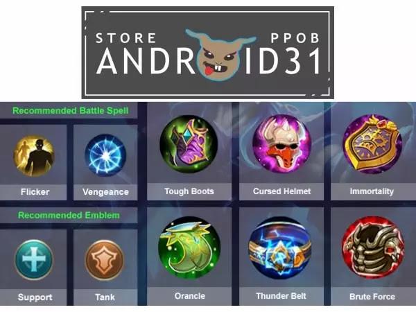 Build Belerick Mobile Legends Terkuat Anti Mati 2021