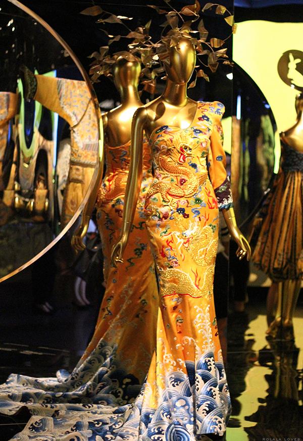 Laurence Xu Dragon Robe Dress at China Through The Looking Glass