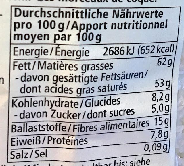 Naehrwerte Angaben Lebensmittel