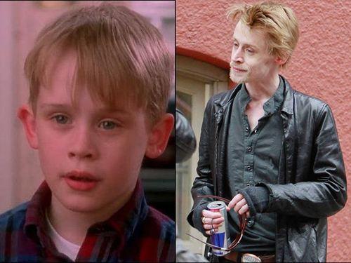 Macaulay en su epoca de fama y actualmente.