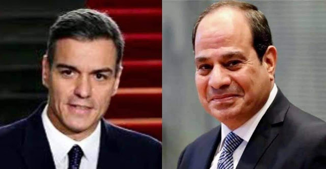 """الرئيس السيسي يتلقى اتصالاً هاتفياً من السيد """"بيدرو سانشيز""""، رئيس وزراء إسبانيا"""