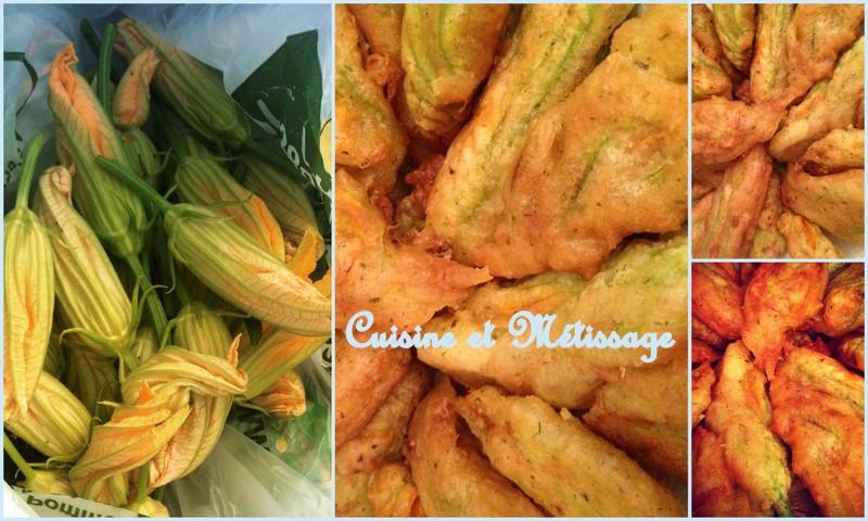 beignets fleurs de courgettes