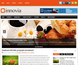 Innovia 2 Column Blogger Template