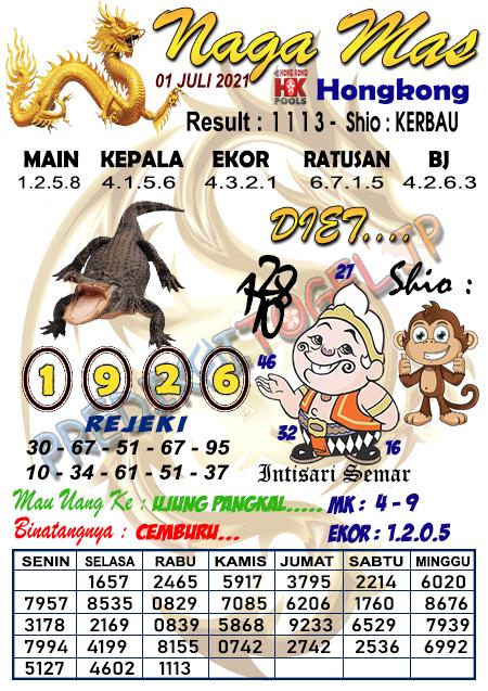 Syair Nagamas HK Kamis 01 Juli 2021