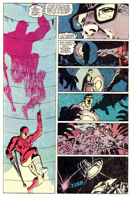Daredevil v1 #180 marvel comic book page art by Frank Miller