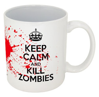 Keep Calm And Carry On Zombies Mug