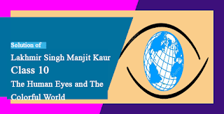 Solutions of The Human Eye and The Colourful World Lakhmir Singh Manjit Kaur LAQ, MCQ, HOTS, VSAQ and SAQ Pg No. 289 Class 10 Physics