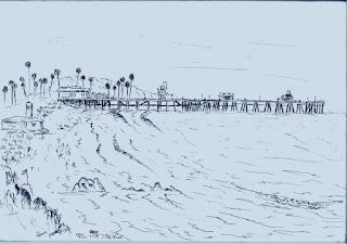 Summer in San Clemente drawing by Paul Carter