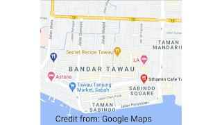 Letak cafe menurut google maps