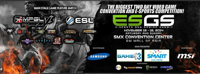 ESGS 2014 SMX Convention Center Pasay City November 15 - 16