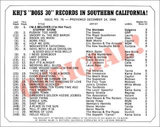 KHJ Boss 30 No. 76 - December 14, 1966