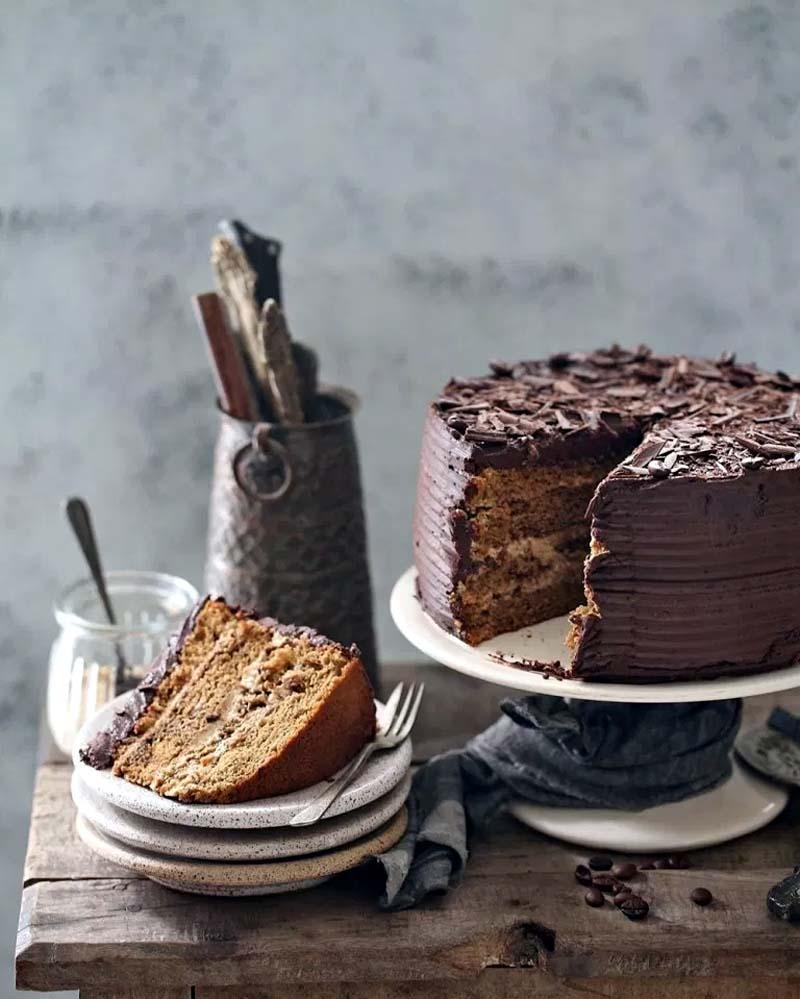 Coffee Mascarpone Layered Cake