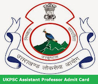 UKPSC Assistant Professor Admit Card