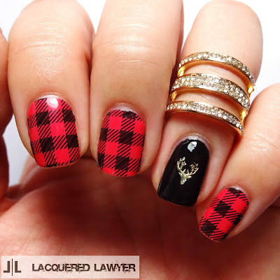 Friday Flannel Nail Art