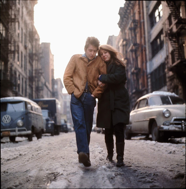 Bob Dylan and Suze Rotolo, Freewheelin' session 1963 © Don Hunstein