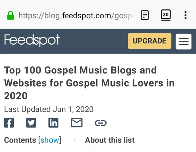 Top 100 Gospel Music Blogs And Website For Gospel Music Lovers ln 2020