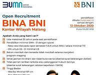 Open Recruitment Bina BNI Kanwil Malang