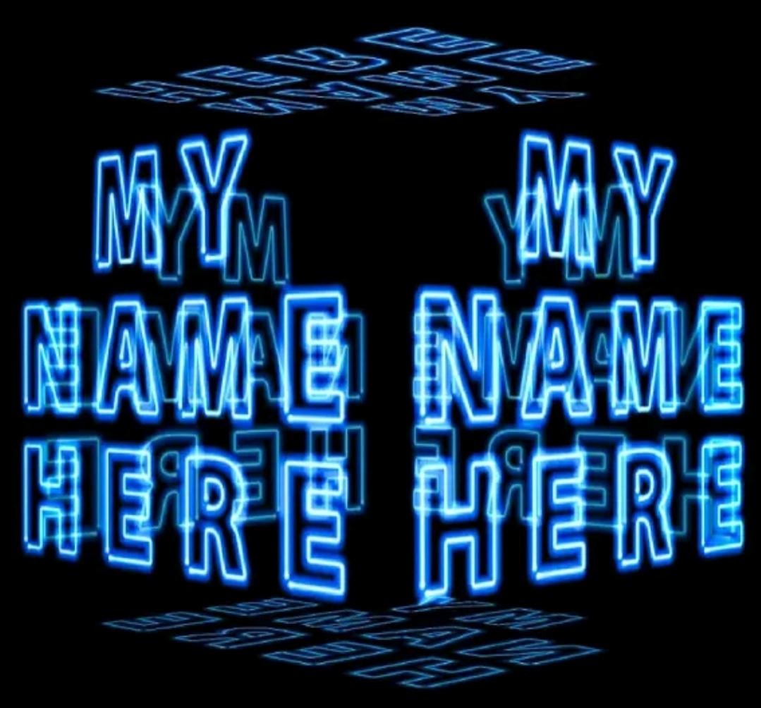 My Name 3d Wallpaper Paper
