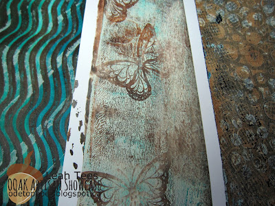 Gelli Plate Ode to Paper Leah Tees