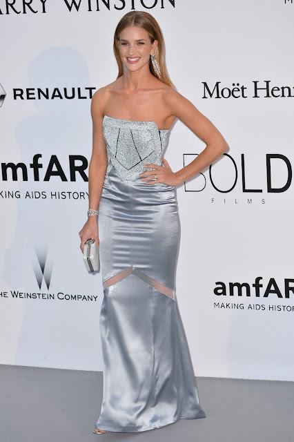 Actress, Model, @ Rosie Huntington Whiteley at Amfar's 23rd Cinema Against Aids Gala in Antibes