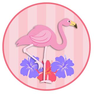 Flamingo: Free Printable Wrapper and Toppers.