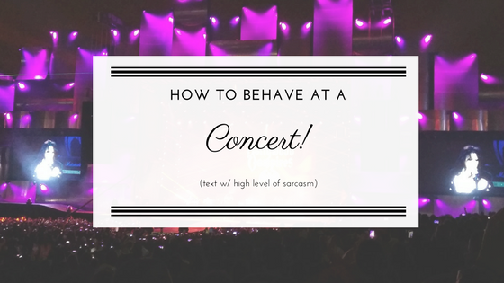 How to behave at a concert