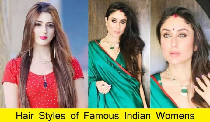 Hairstyle of Famous Indian Ladies