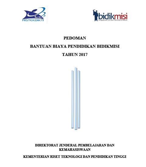 Pedoman dan Juknis Pendaftaran Bidikmisi Tahun 2017