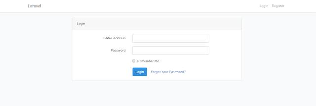 halaman login dengan bootstrap
