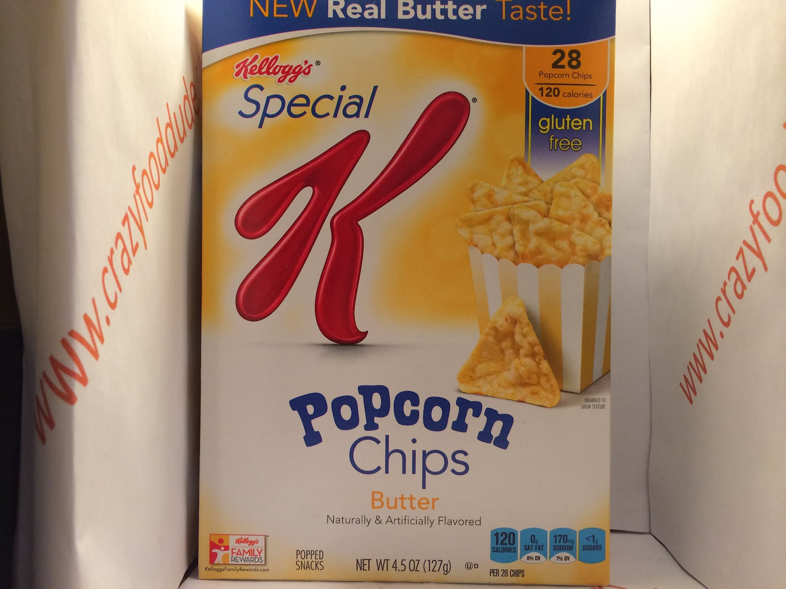 Review Kellogg S Special K Butter Popcorn Chips Crazy Food Dude