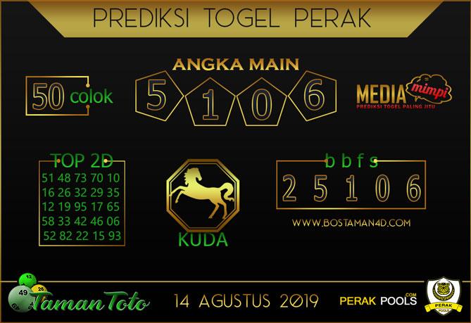 Prediksi Togel PERAK TAMAN TOTO 14 AGUSTUS 2019