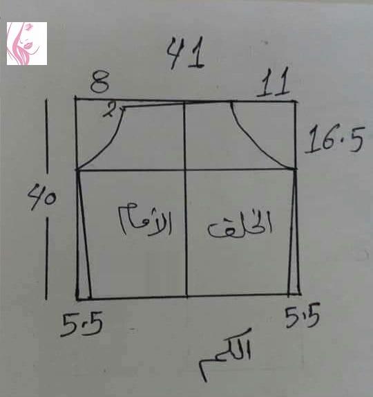 باترون فستان للمحجبات ✂️ شرح مبسط للمبتدئين👍 حجاب انيق